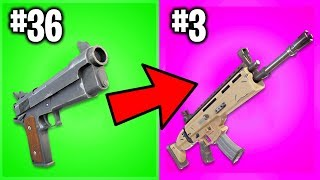 RANKING EVERY GUN IN FORTNITE CHAPTER 2 FROM WORST TO BEST