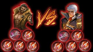 Alucard full lifesteal vs Roger full lifesteal - Mobile legends