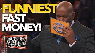 FUNNIEST FAST MONEY MOMENTS EVER On Family Feud US | Bonus Round
