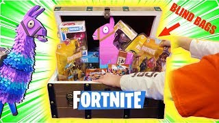 Finding NEW FORTNITE TOYS & FIGURES in Legendary Treasure Chest IN REAL LIFE!!