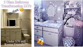 GLAM BATHROOM MAKEOVER IN 5 EASY STEPS| HOME IMPROVEMENT DIY