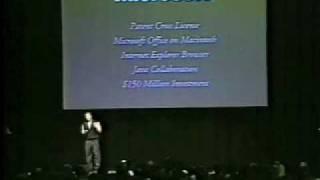 Macworld Boston 1997-The Microsoft Deal