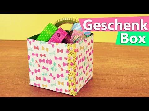 DIY Aufbewahrungsbox | super einfach & schnell fertig | Geschenkbox, für Bastelsachen & Zimmerdeko