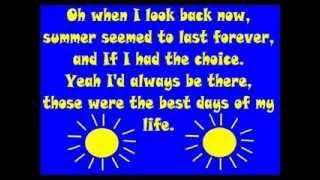 Summer of '69 Lyrics Bryan Adams Complete Video with Vocals and instrumental