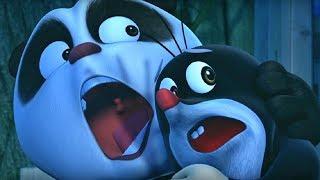 Кротик и Панда - Пещерный монстр - серия 28- развивающий мультфильм для детей