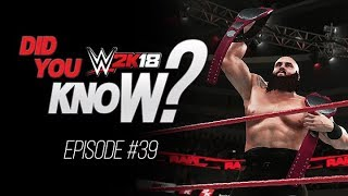 WWE 2K18 Did You Know?: Chamber Championship Animations, Solo Tag Team Champions & More (Episode 39)