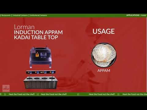 Commercial Induction Appam Kadai