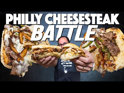 PHILLY CHEESESTEAK BATTLE II (BACON JALAPEÑO VS. TRUFFLE MUSHROOM)