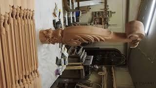 Видео - Резной заходной столб для лестниц zs-Vilnus