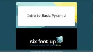 Intro to Pyramid Framework for Python - Six Feet Up