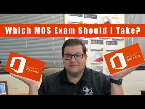 Which MOS Exam Should I Take 2016 or 2019? - YouTube