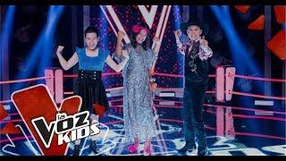 Celeste, Juan Esteban y Sara cantan en las Súper Batallas | La Voz Kids Colombia 2019