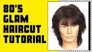 80's Glam Rock n Roll Haircut Tutorial - TheSalonGuy