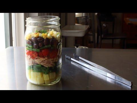 "Layered ""Norcal"" Nicoise Salad – Tuna & Vegetable Salad with Avocado Dressing"