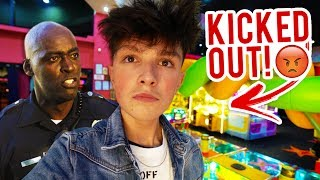 POLICE KICKED ME OUT OF ARCADE FOR WINNING JACKPOT!! (Arcade Hacks)