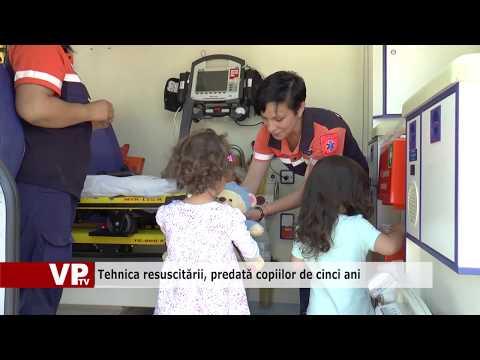 Tehnica resuscitării, predată copiilor de cinci ani