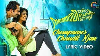 Natholi Oru Cheriya Meenalla | Chempaneer Chundil Njan Lyric Video | Fahadh Faasil | Unni Menon | HD