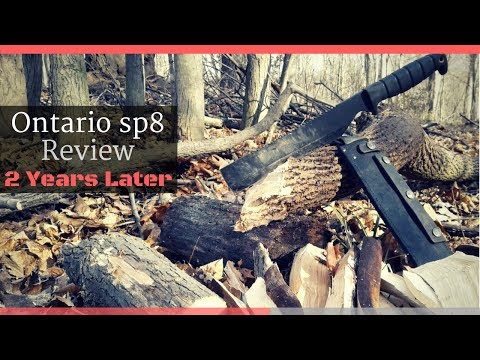 Ontario sp8 Machete Review | 2 Years Later | BEST Survival Tool???