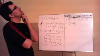 Funkce - předpis kvadratické funkce procházející