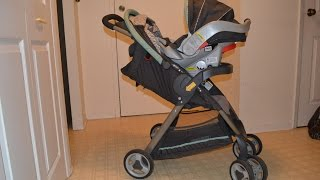 preview picture of video 'Graco FastAction Fold Classic Connect Travel System Review!'