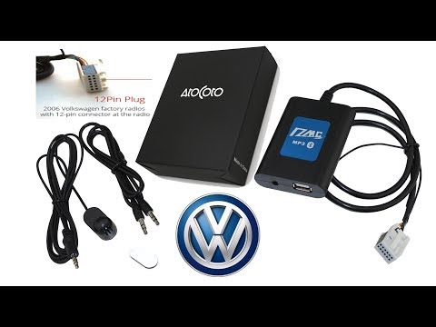 Aliexpress: AtoCoto DMC Bluetooth A2DP USB AUX Car RCD 300 12Pin for VW 2006up ,Unboxing Installing