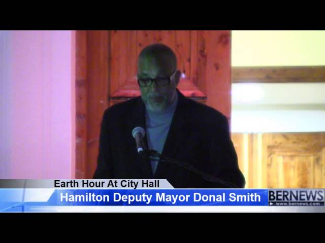 Deputy Mayor Donal Smith Earth Hour, Mar 23 2013