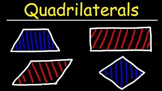 Quadrilaterals - Trapezoids, Parallelograms, Rectangles, Squares, and Rhombuses!