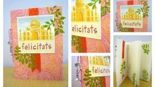Cómo hacer una tarjeta de cumpleaños original.Tutorial scrapbook. Manualidades de papel