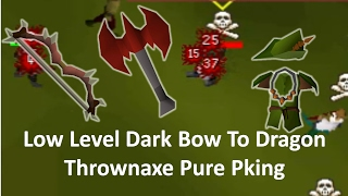 Dark Bow To Dragon ThrownAxe Pure Pking - OSRS INSANE COMBO!