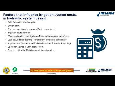 Drip Irrigation design part 1
