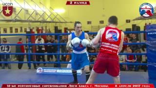12-е рейтинговые бои Лига бокса г. Москвы  – 08.04.17 г. до 69 кг
