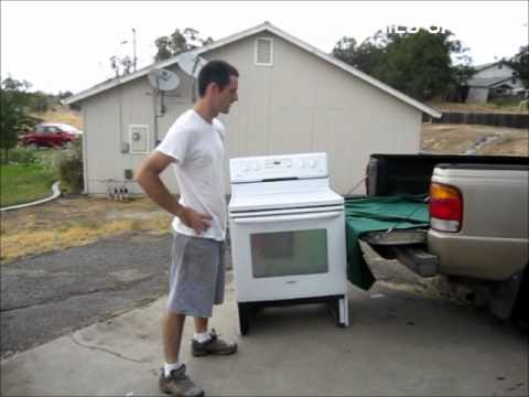 How To Load A Stove Into A Truck By Yourself