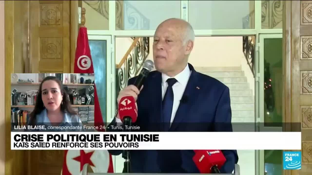 """En Tunisie, Kaïs Saïed dit pouvoir gouverner par décret : """"C'est inédit car il n'y a pas de c..."""