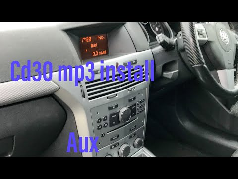 fitting a cd30 mp3 with aux on the sri turbo astra vxr mk5 h opel opc
