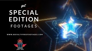 Neon Saber Lighting animation template, Electric Neon effect Stars background, Royalty Free Footages