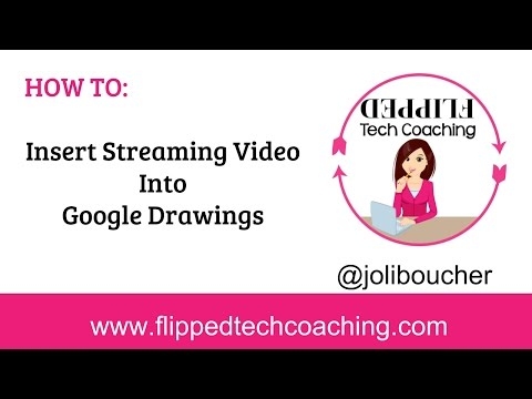 Add Streaming Video To Google Drawings Flipped Technology Coaching