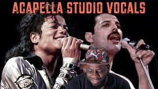 Michael Jackson & Freddie Mercury Acapella studio vocals | Reaction