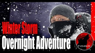 Backpacking in a Blizzard - Winter Storm Backpacking Overnight Adventure