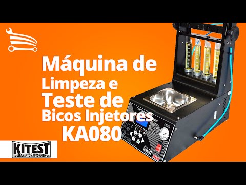 Máquina de Limpeza e Teste de Bicos Injetores com Cuba de 1 Litro - Video