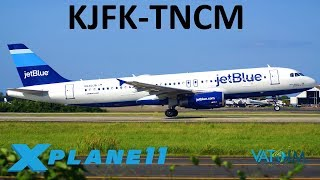 X-Plane 11 | 9K SUB Celebration!! | KJFK-TNCM | A320U | VATSIM | Long Haul + New Intro + GIVEAWAY!!