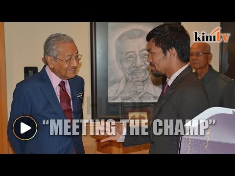 Dr Mahathir gets birthday surprise from Manny Pacquiao