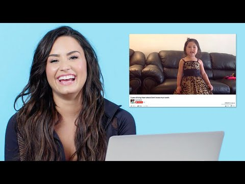 Demi Lovato Watches Fan Covers On YouTube | Glamour