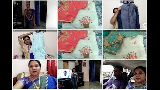 Celebrations started/Dussehra shopping/Readymade work blouses/Blouse design/Indianmom busy lifestyle