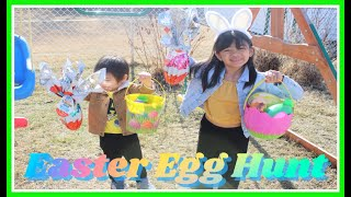 Easter Egg Hunting fun with Sophia with Bron