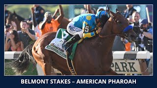 American Pharoah wins the Triple Crown - 2015 Belmont Stakes (G1)