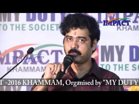 Value Of Life|Sridhar Nallamothu|TELUGU IMPACT Khammam 2016