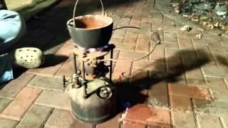 Gasoline Otto Bernz antique burner Fire-pot