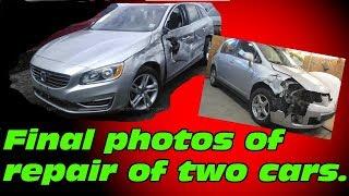 Final photos of repair of two cars. Финальные фото ремонта двух машин.