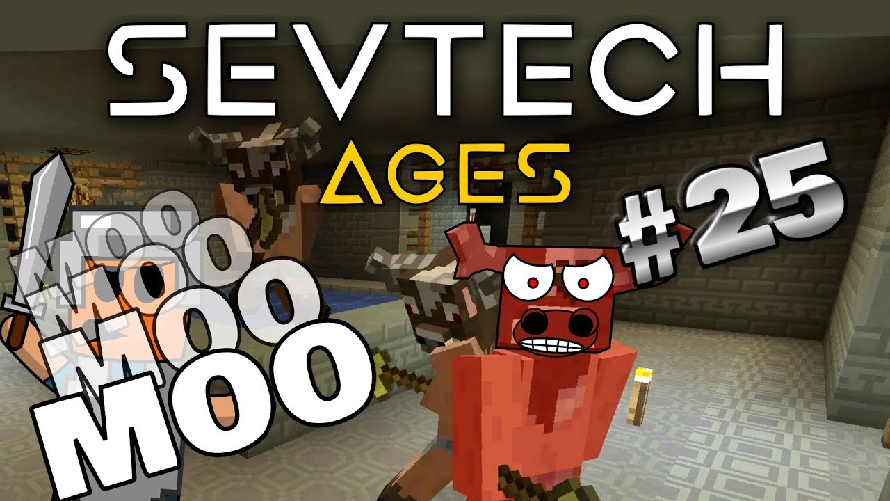 Minecraft - Minoshroom and Hydra Bosses - SevTech Ages #25
