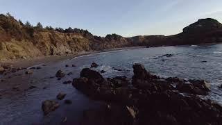 Oregon Coast Cinematic DJI FPV Otter Point Agate Beach